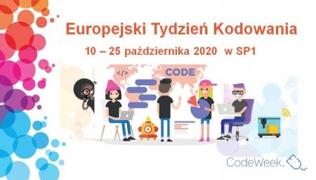 CODE WEEK 2020 – EUROPEJSKI TYDZIEŃ KODOWANIA W SP1